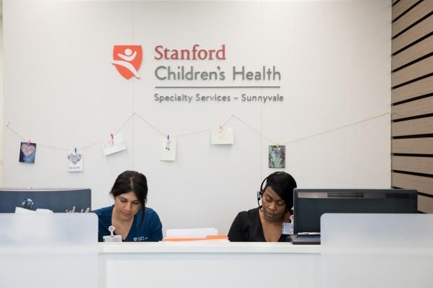 Receptionists at Stanford Children