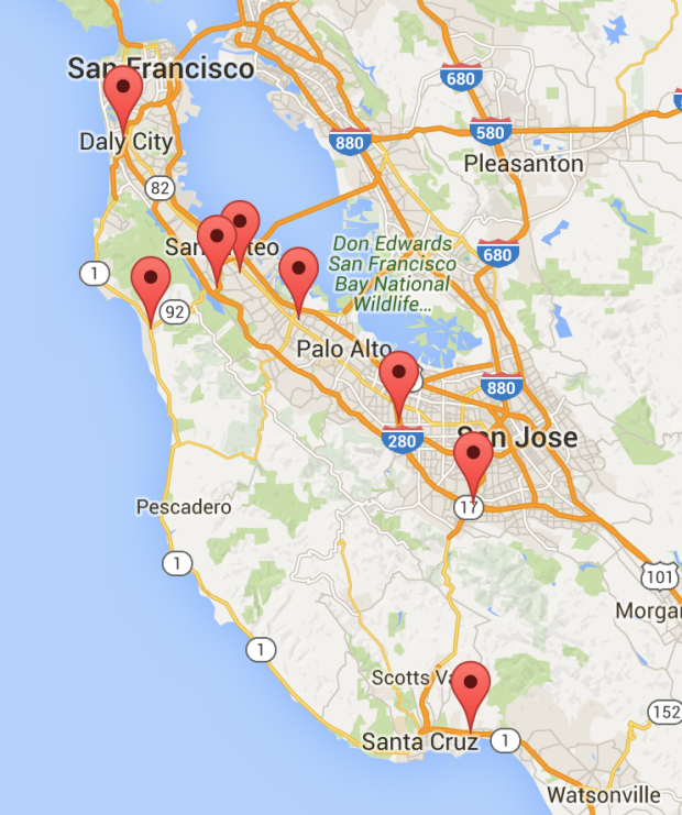 map of developmental behavioral pediatrics sites and locations